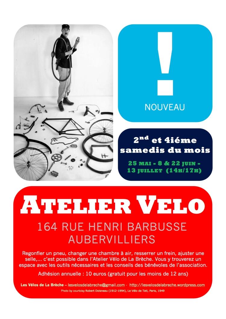 Affiche Atelier Vélo