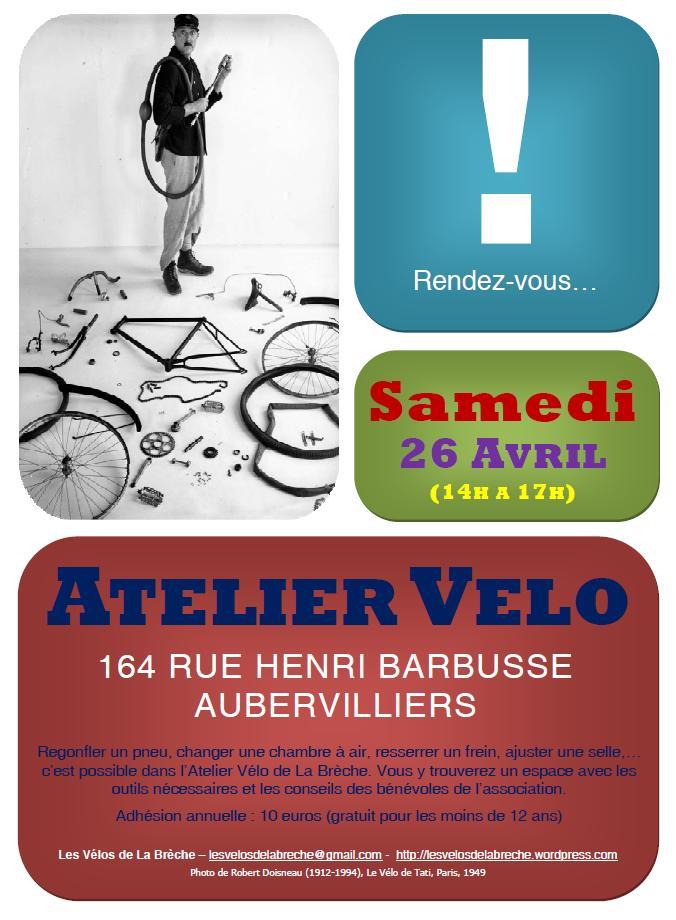 Affiche Atelier Vélo Avril 2014