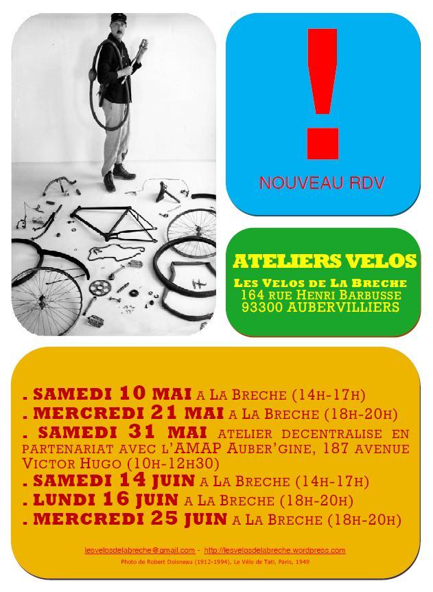 Affiche Atelier Vélo Mai Juin 2014