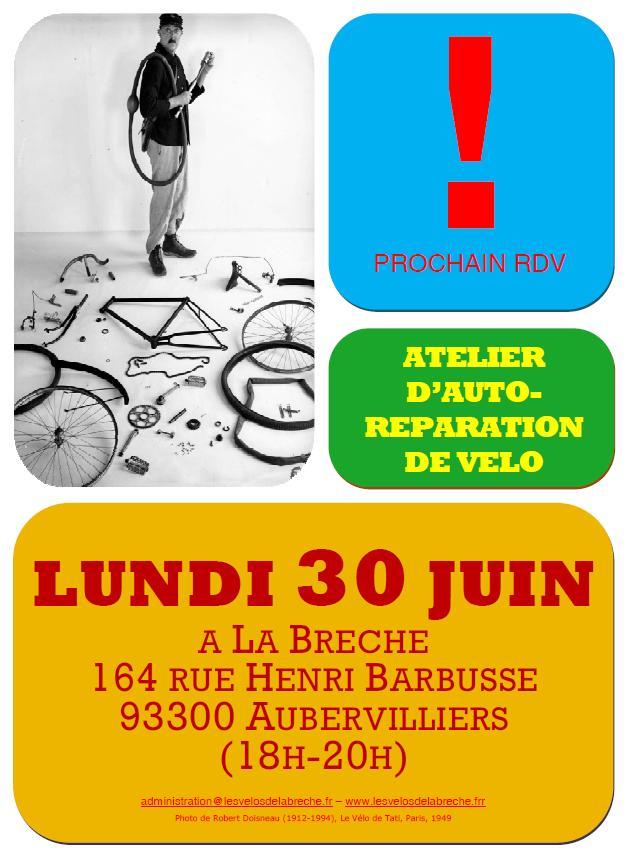 Affiche Atelier Vélo 30 Juin 2014