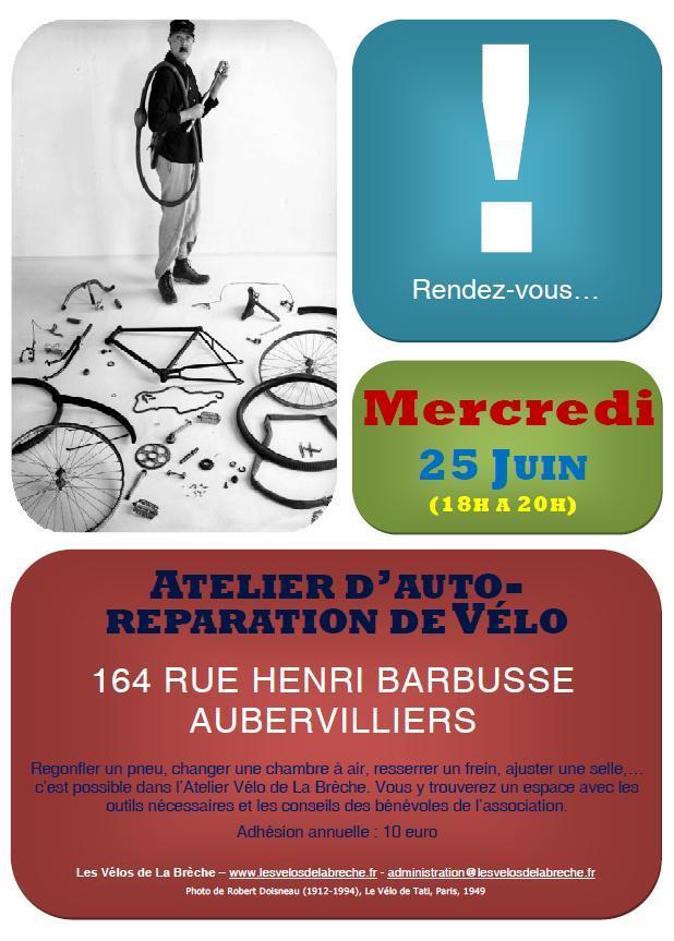 Affiche Atelier Vélo Juin 2014