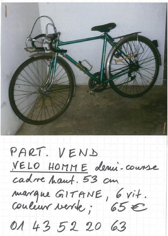 PAP vente vélo