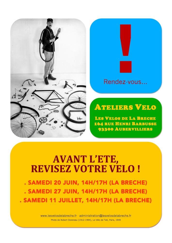 Affiche Atelier Vélo Juin-Juillet 2015